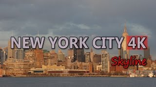 Ultra HD 4K New York City Travel USA Tourism Skyline Skyscrapers Tourist Attraction Stock Footage