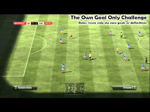 Own Goals Only Challenge | FIFA 12 Manual Controls