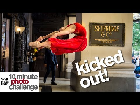 10 Minute Photo Challenge KICKED OUT of Fancy London Store (Surprise Ending!)