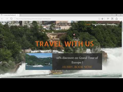 Bootstrap 4 Tutorial - Designing a Travel website with Bootstrap 4