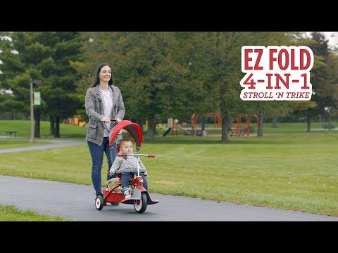 EZ Fold 4-in-1 Stroll 'N Trike®: Convertible Tricycle