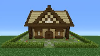 Minecraft Tutorial: How To Make A Small Wooden Cabin - 2