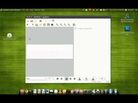 Ubuntu App Review (gLabels label maker) - YouTube