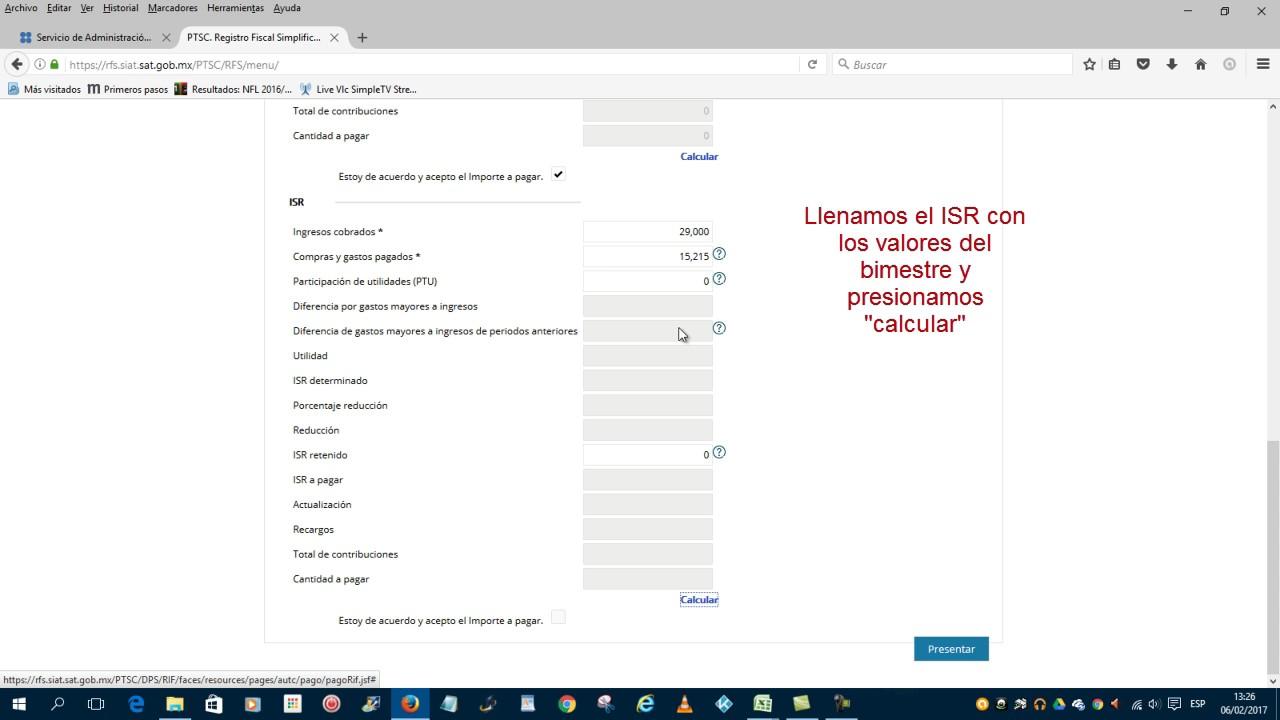 2017 Envio Declaración Rif Sat Mexico Rfc Youtube