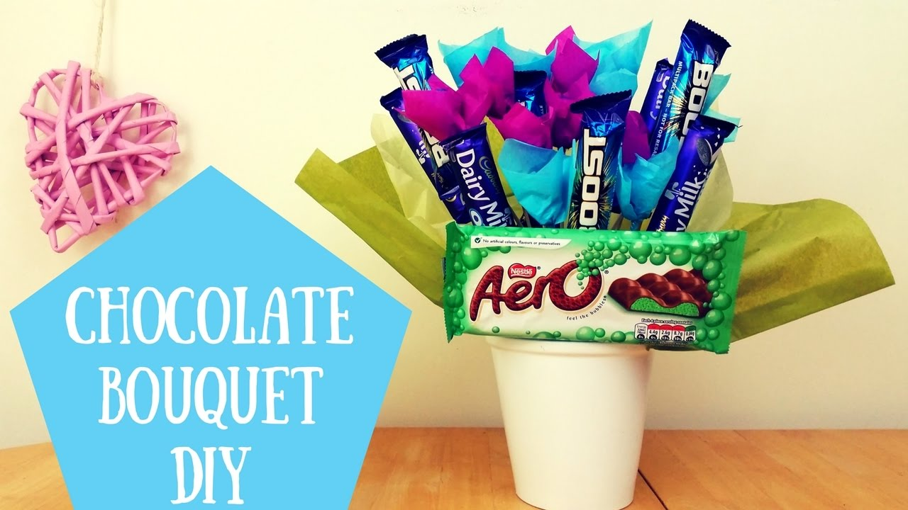 How To Make A Chocolate Bouquet At Home With Chocolate
