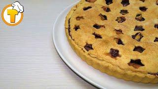 Яблочно-вишневый пирог. Тарт. Пошаговый рецепт.