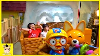 Indoor Playground for Kids and Family Fun Play Jump Bumper Cars Pororo Kids Cafe | MariAndKids Toys
