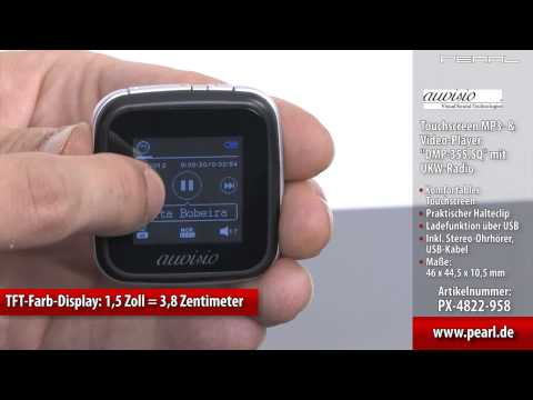 auvisio Touchscreen MP3- & Video-Player