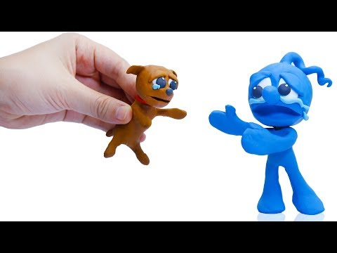 CLAY MIXER: ADOPTING RESCUED DOG 馃挅 Play Doh Cartoons For Kids