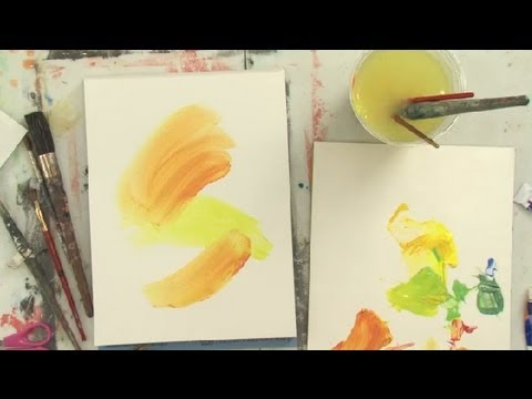 How to Make Your Own Colorful Abstract Art : Art Lessons