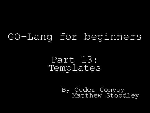 Golang for beginners: -Templates