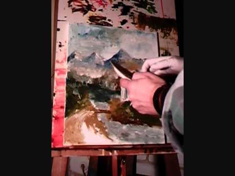 Speed finger painting – Bavarian landscape !
