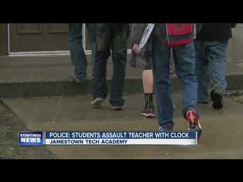 Police: Students in Jamestown assault teachers with a clock
