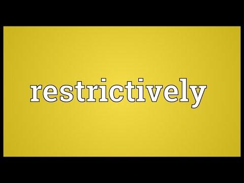 Header of restrictively