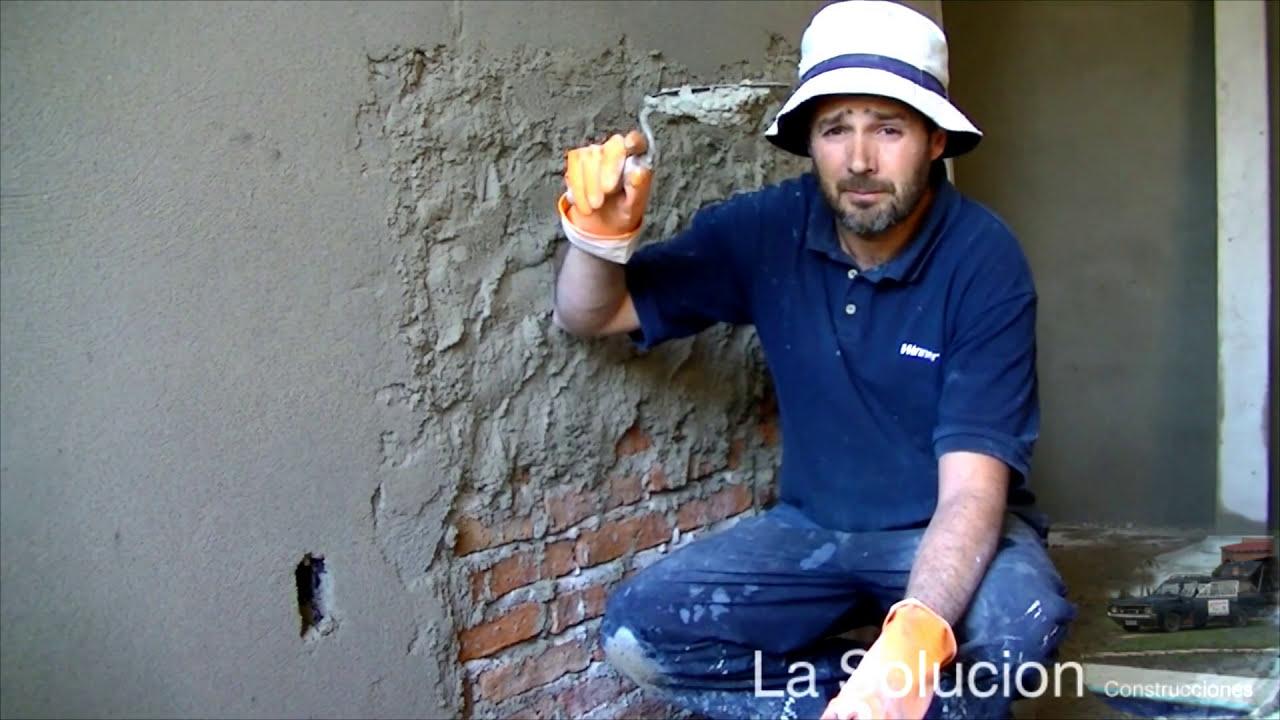 Revoque Paredes Con Arena Y Cal Alisado De Paredes Youtube