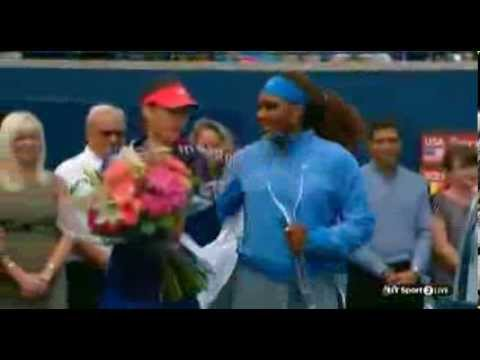 Awards ceremony Serena Williams v Sorana Cirstea | Rogers Cup 2013