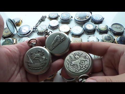 Обзор старые винтажные механические часы СССР Луч Полет Молния Москва Восток
