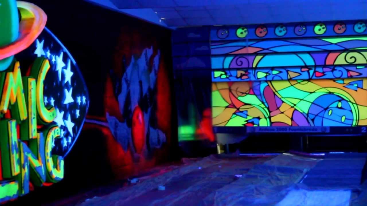 mural fotoluminiscente en bolera youtube