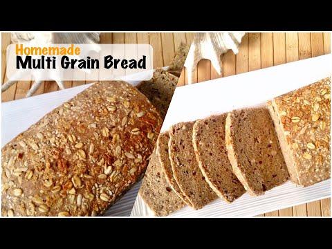 Homemade Multi Grain Bread Recipe | How to Make Healthy MultiGrain Bread at Home