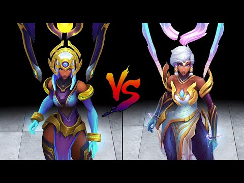 Odyssey Karma vs Dawnbringer Karma Skin Comparison Spotlight (League of Legends)