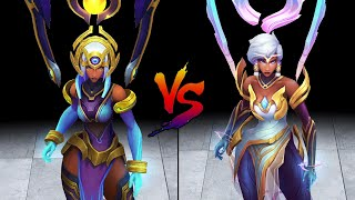Odyssey Karma vs Dawnbringer Karma Skin Comparison Spotlight (League of Legends)