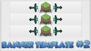 [PS] Minecraft Banner Template #2 - by Ryoker