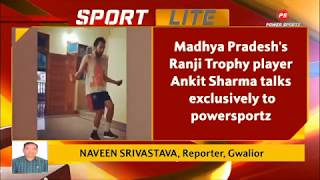 Madhya Pradesh's Ranji Trophy player Ankit Sharma working out for fitness by staying at home