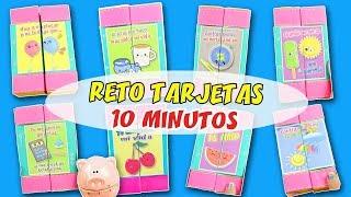 5 DIYs RETO TARJETAS EN 10 MINUTOS - EPISODIO 4: TARJETA Cubos Mágicos | Manualidades aPasos
