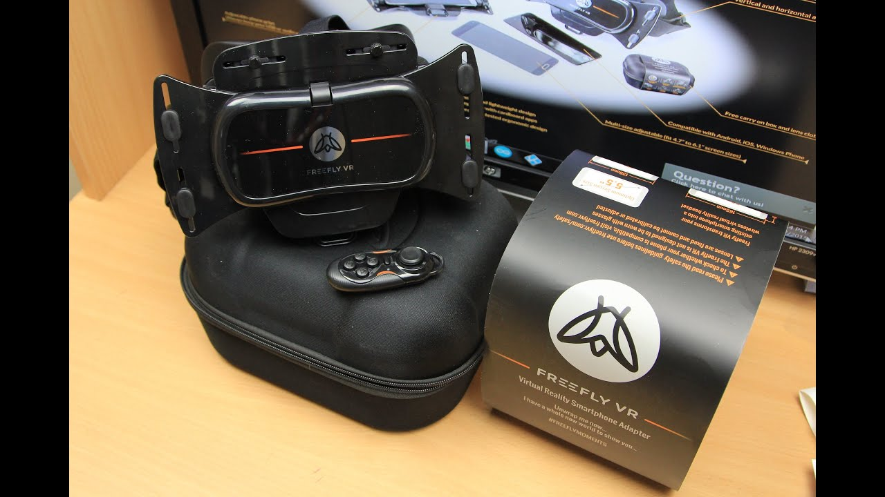 ee0304308736 Freefly VR Virtual Reality Smartphone 3D Headset (VR Glasses) Unboxing    Review
