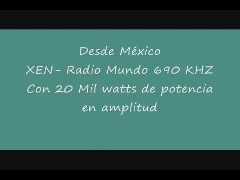 Radio mundo XEN identificacion. Voz Ramiro Jacobo García.