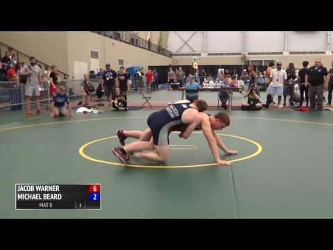 85kg f, Match 1, Jacob Warner, IL vs Michael Beard, PA