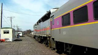 MBTA Inbound Train to Boston at Ayer, MA with MARC 67