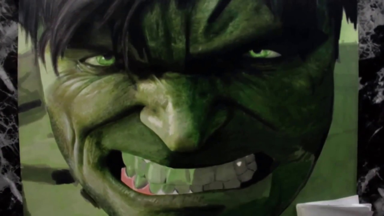 Drawing The Incredible Hulk   Time Lapse   Speed Drawing