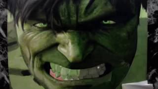Drawing the incredible Hulk - Time Lapse - Speed drawing