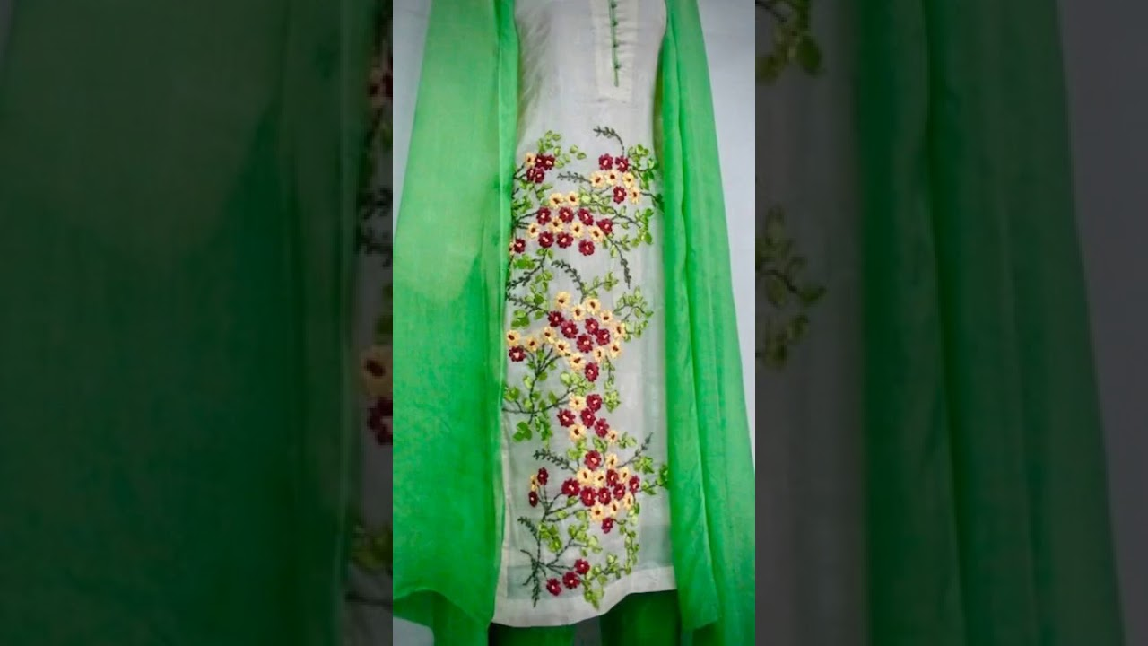 Ribbon Embroidery Salwar Suit Youtube