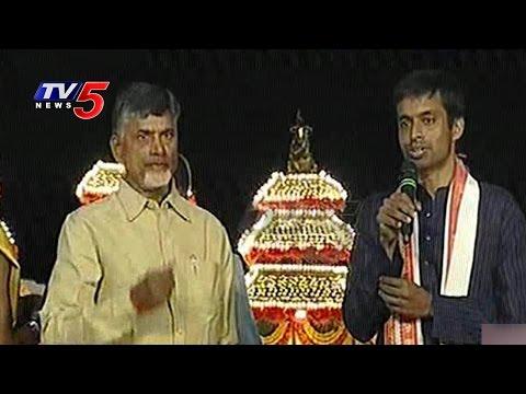 Pullela Gopichand Speech At Krishna Pushkaralu Closing Ceremony   Telugu News   TV5 News