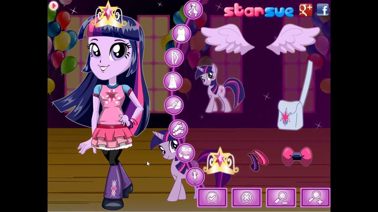 Chibi Equestria Girls Twilight Sparkle Dress Up Game