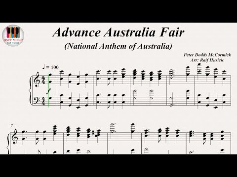 Advance Australia Fair (National Anthem of Australia), Piano