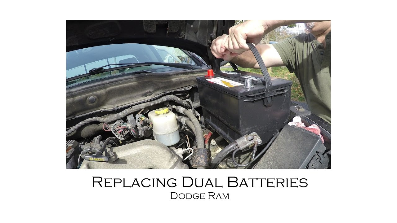 how to replace dodge diesel truck battery batteries 2500 3500 [ 1280 x 720 Pixel ]
