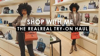 SHOP WITH ME at The RealReal!! + TRY ON HAUL!