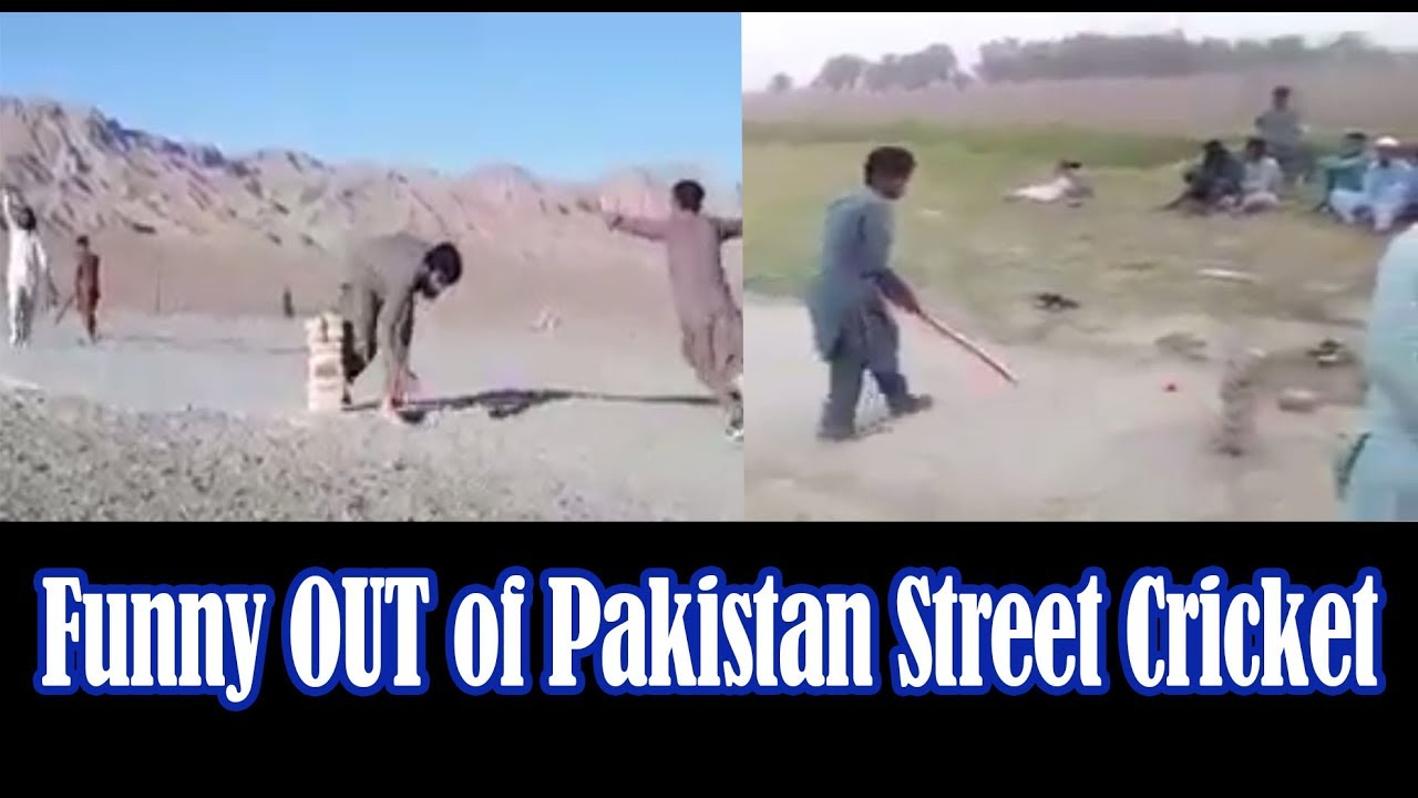Funny OUT of Pakistan Street Cricket.. Try Not To Laugh Challenge!