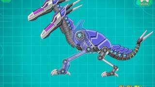 Мультик игра Роботы Динозавры: Двухголовый Птерозавр (Toy War Robot Double Head Pterosaur)