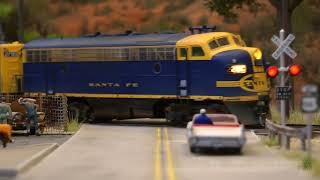 Ho Scale Santa Fe Layout Steam Locomotives And Emd F7 Diesel Electric Locomotives Model Railroad Youtube