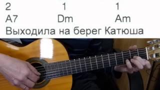 Катюша - аккомпанемент на гитаре + слова