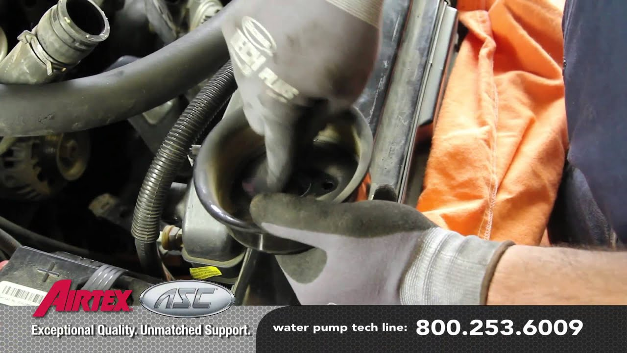 how to install a water pump chevy s10 2 2l wp 624 aw5032