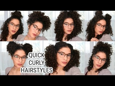 EASY CURLY HAIRSTYLES TUTORIAL