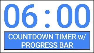 6 min Countdown Timer w/ Progress Bar #Timer #Countdown