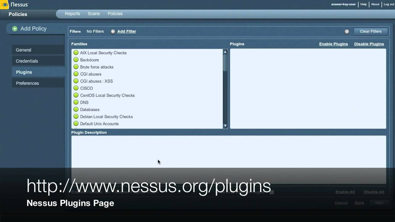 nessus scan policy creation