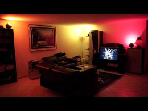 Philips Living Colors 2 Gen Demo of multiple lamps in a