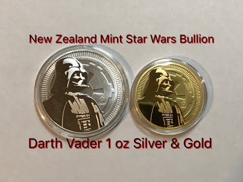 2017 Star Wars Darth Vader 1 oz Gold and Silver Bullion Coins - New Zealand Mint